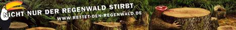 Banner: Nicht nur der Regenwald stirbt