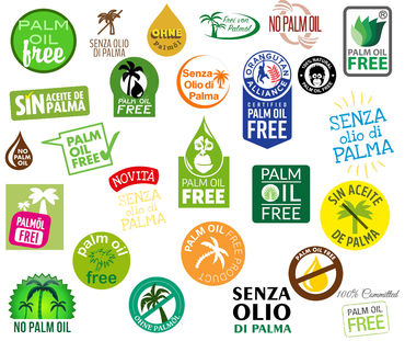 "Collage Logos ""ohne Palmöl"""