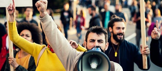 Demonstration auf der Strasse