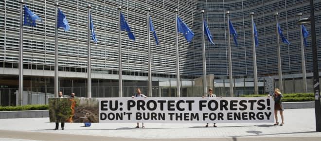 Petitionsübergabe in Brüssel