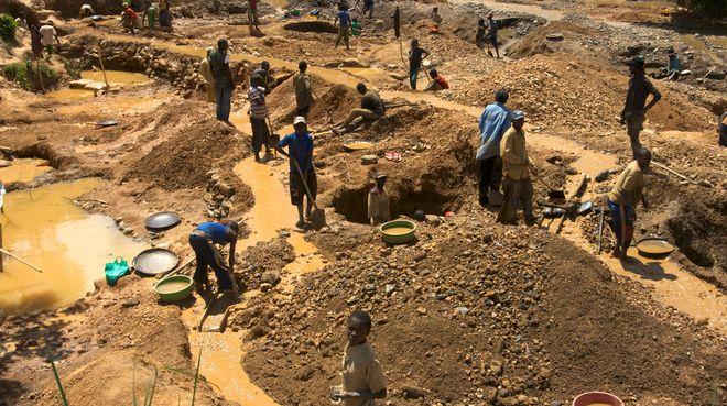 Minenarbeiter im Congo