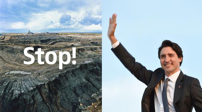 Öl aus Teesand – es gibt kaum eine größere Umweltsauerei! Kanadas Premier Trudeau entscheidet jederzeit über eine weitere Mine.