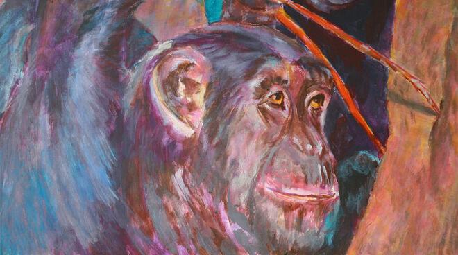 Gemälde eines Schimpansen
